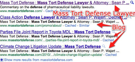 Mass Tort Defense Lawyer Search on Google