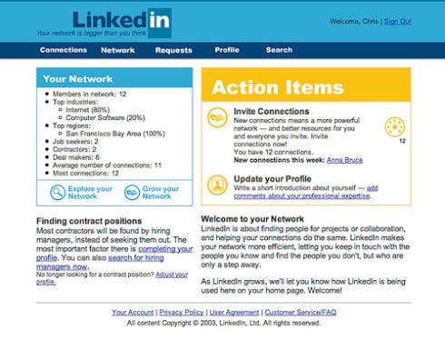 LinkedIn in 2003
